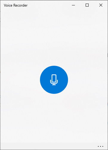 Open Voice Recorder; Win10 built-in program